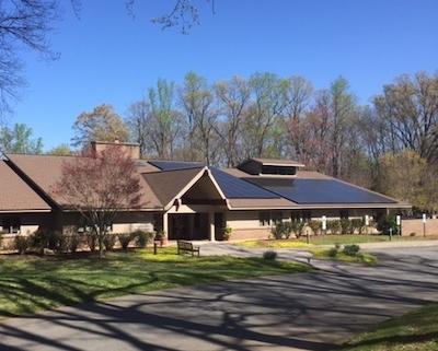 Solar on UU Fellowship Roof